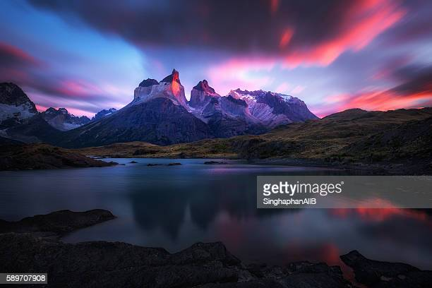 Reflection of Torres del Paine
