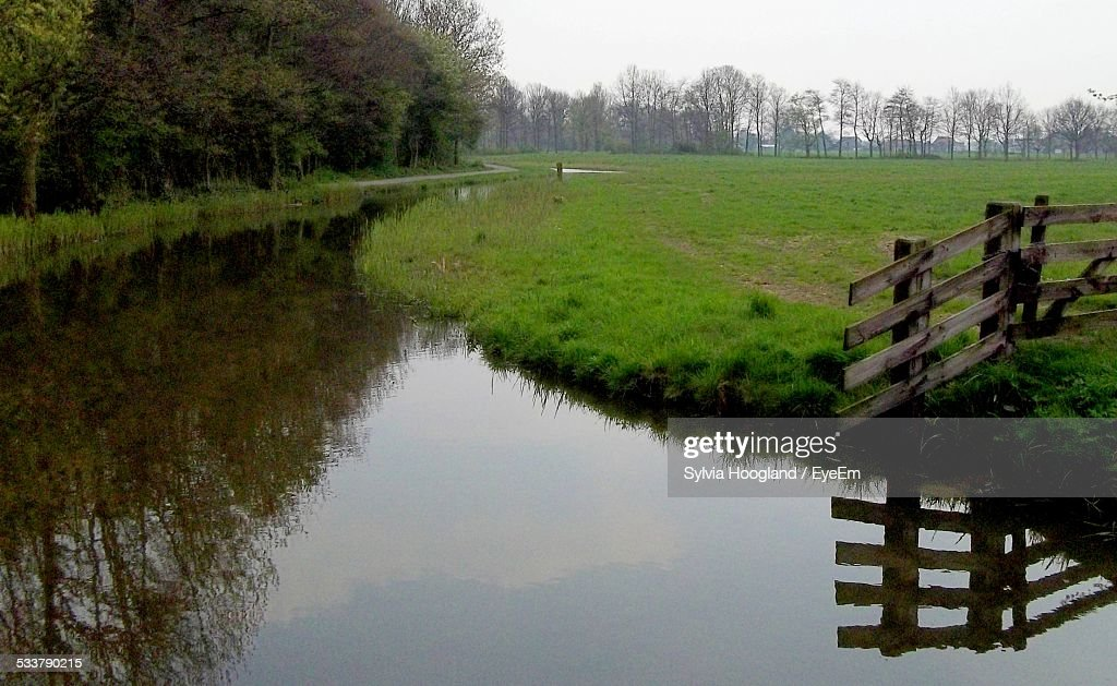 Reflection Of Trees In Canal : Foto stock