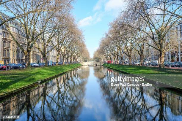 Reflection Of Trees In Canal