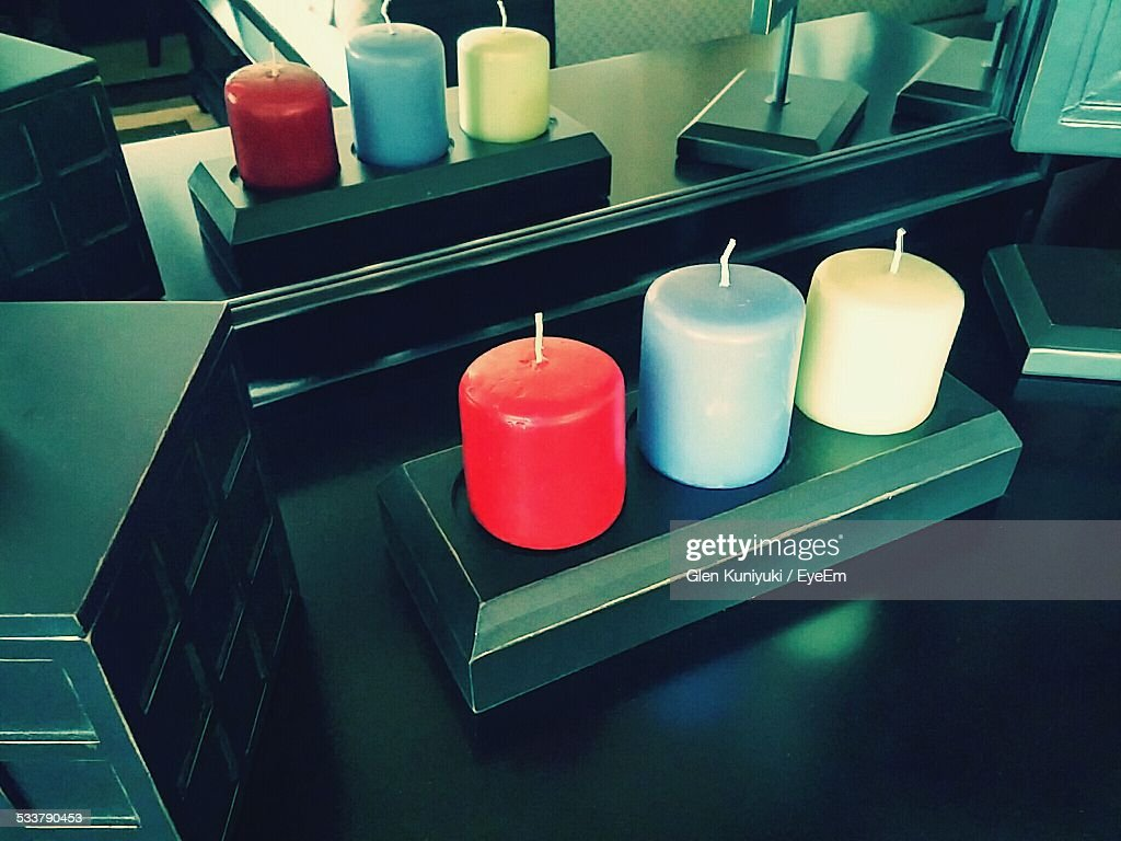 Reflection Of Wax Candle : Foto stock