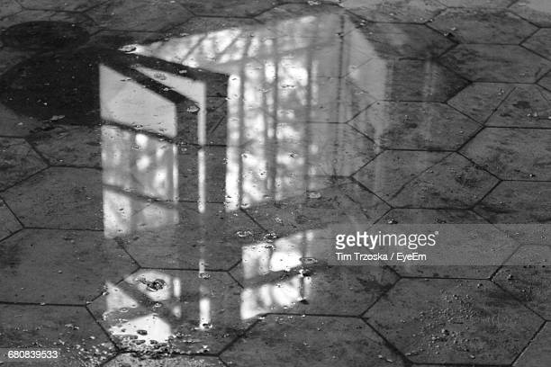 Reflection Of Window On Floor In Abandoned House