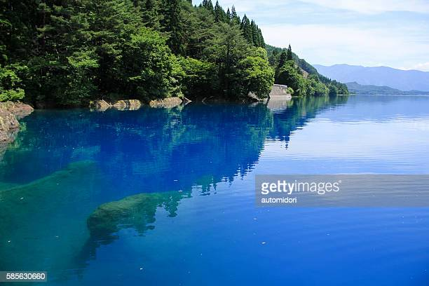 Reflection on Lake Tazawa (Tazawako) in Akita, Japan