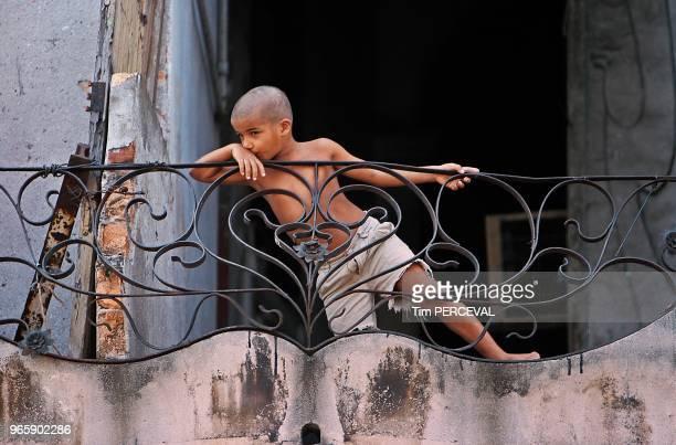 Reflection on the balcony Havana