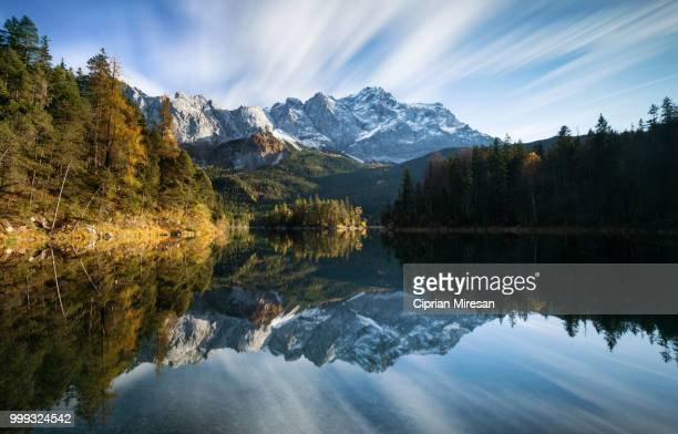 Reflection on the lake, Eibsee