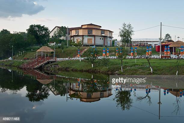 reflection - sibiu stock photos and pictures
