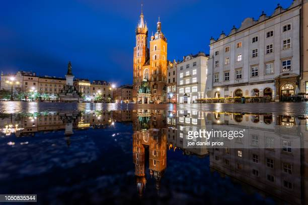 Reflection, St Mary's Basilica, Bazylika Mariackal, Krakow, Poland