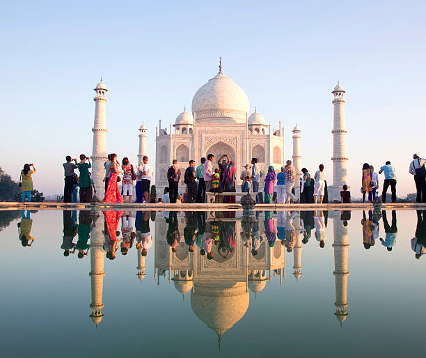 Reflection View Of Taj Mahal Wall Art