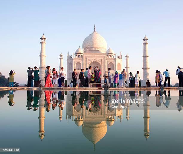 Reflection View of Taj Mahal