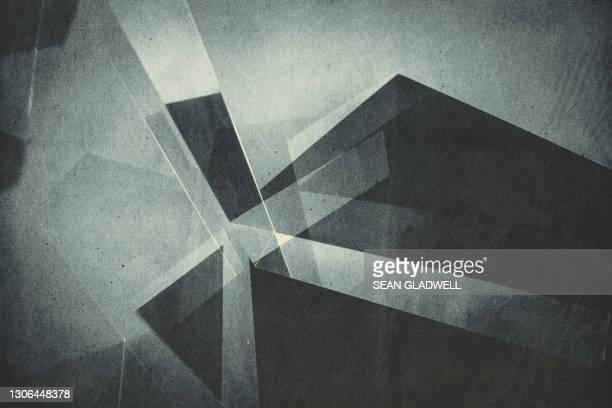 reflections 3d abstract - shape stock pictures, royalty-free photos & images