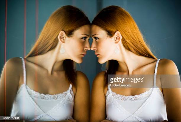reflections and femininity - furious stock pictures, royalty-free photos & images