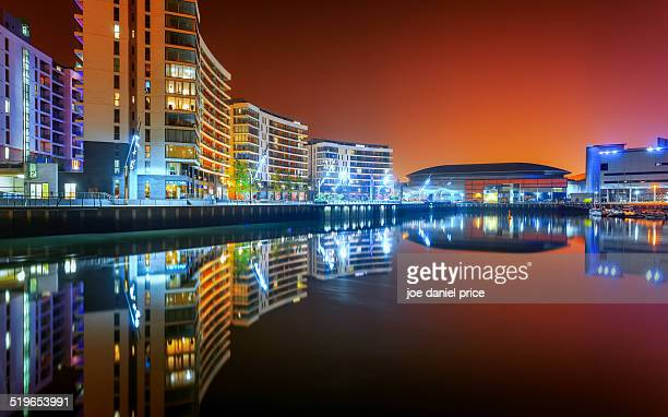 reflections at belfast, northern ireland - belfast stock pictures, royalty-free photos & images