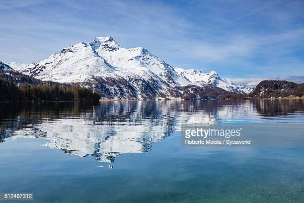Reflections at Lake Sils Switzerland
