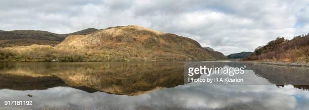 Reflections at Llyn Dinas, Snowdonia national park, Wales