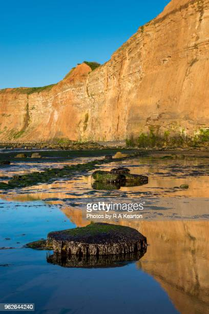reflections at saltburn-by-the-sea, north yorkshire, england - saltburn stock photos and pictures