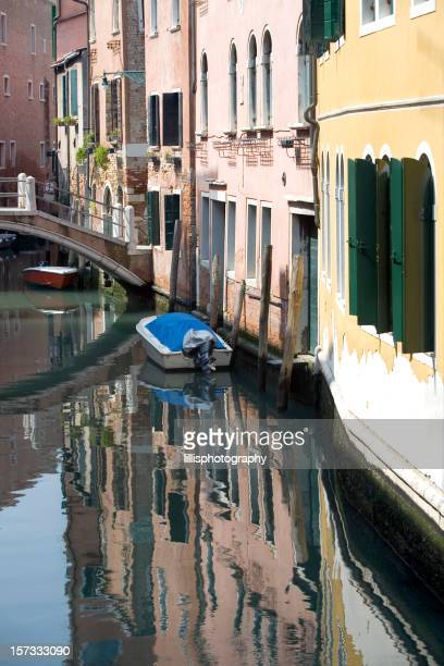 Reflections in Canal  Venice Italy