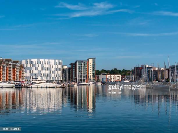 Reflections in Neptune Marina, Ipswich, Suffolk