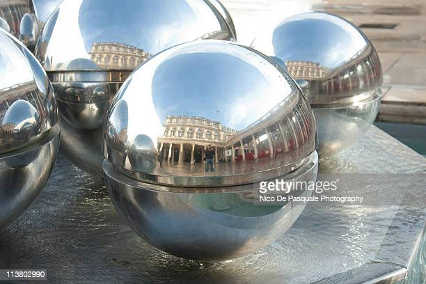 reflections in palais royal fountain - palais royal stock pictures, royalty-free photos & images