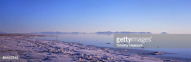 reflections in the great salt lake - timothy hearsum stock pictures, royalty-free photos & images