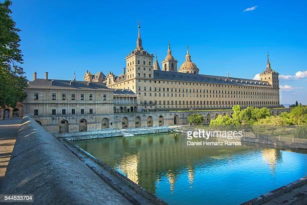 Reflections of a Palace. Monasterio de El Escorial Madrid. Spain