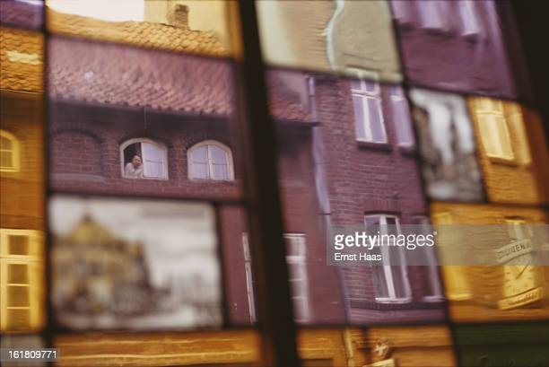 Reflections of a street in Germany June 1973