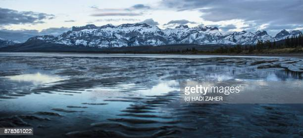 Reflections of an afternoon sky in a lake | Jasper National Park | Alberta | Canada
