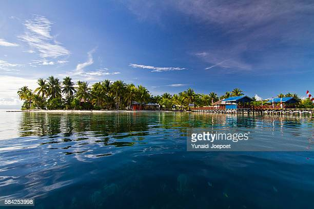 Reflections of Arborek Island, Raja Ampat, West Papua