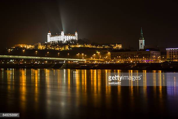 Reflections of Bratislava on the Danube River