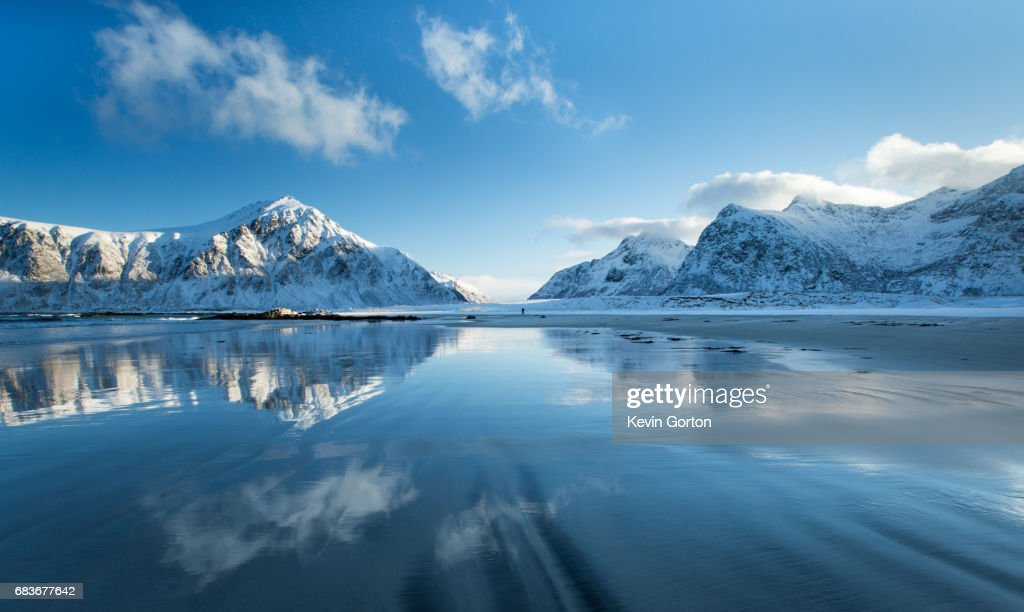 Reflections of the mountains : Stock Photo
