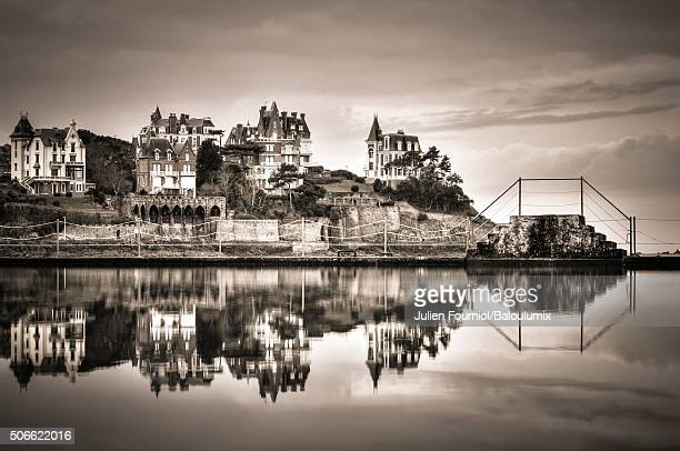 reflections of the town of dinard - dinard stock pictures, royalty-free photos & images