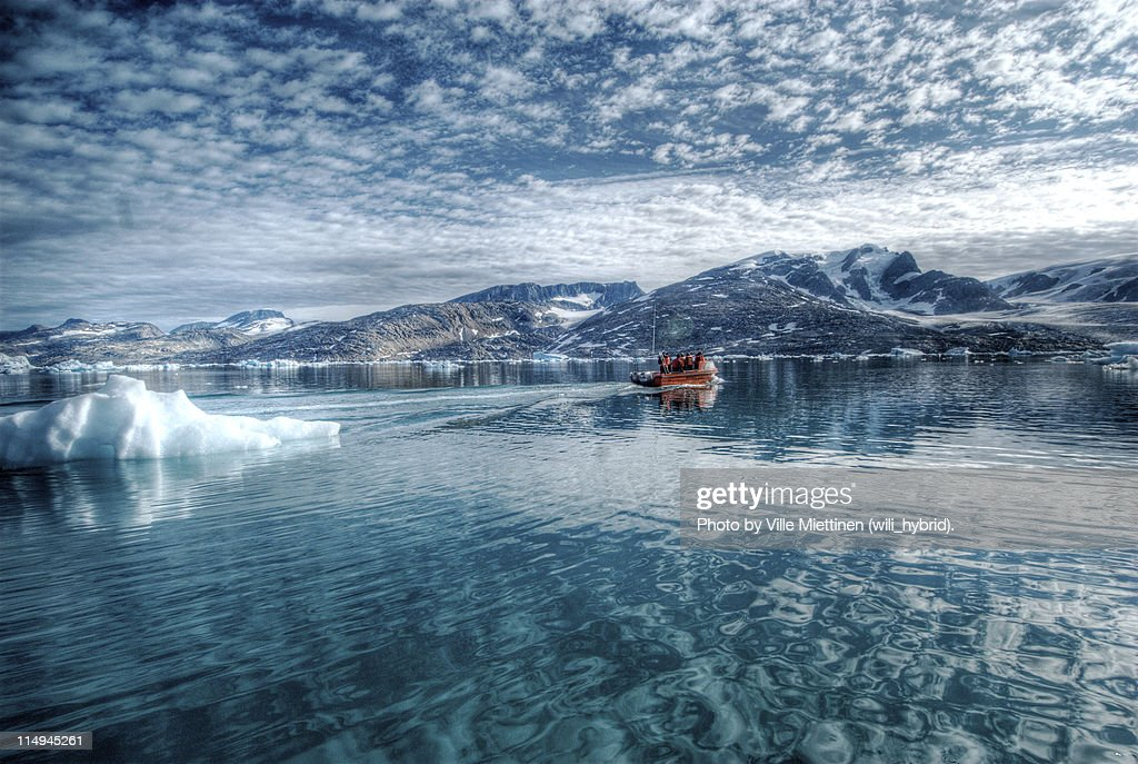 Reflections on Arctic Sea : Stock Photo