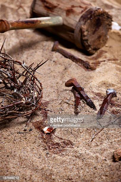 reflections on christ crucifixion - the crucifixion stock pictures, royalty-free photos & images