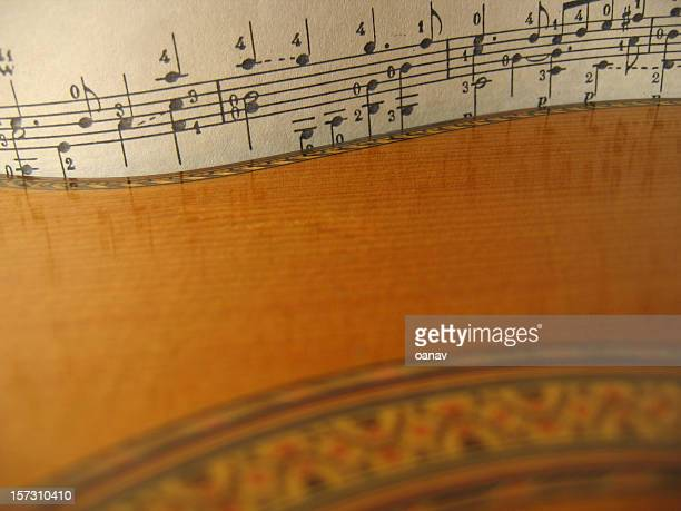 reflections on guitar music - classical guitar stock photos and pictures
