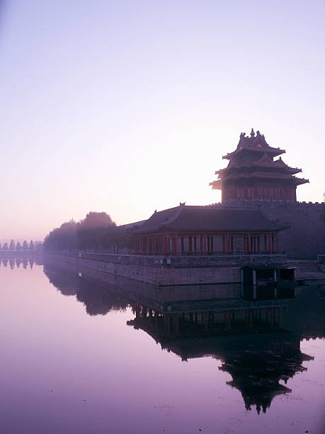 Reflections On Lake With Forbidden City In Background Beijing China Wall Art Photo ID 200547489 001