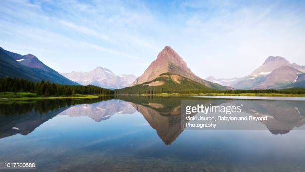 Reflections on Swiftcurrent Lake at Many Glacier, Montana