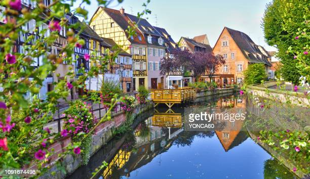reflections - colmar stock photos and pictures