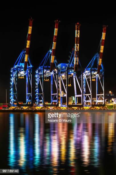 reflections.... - cantiere navale foto e immagini stock