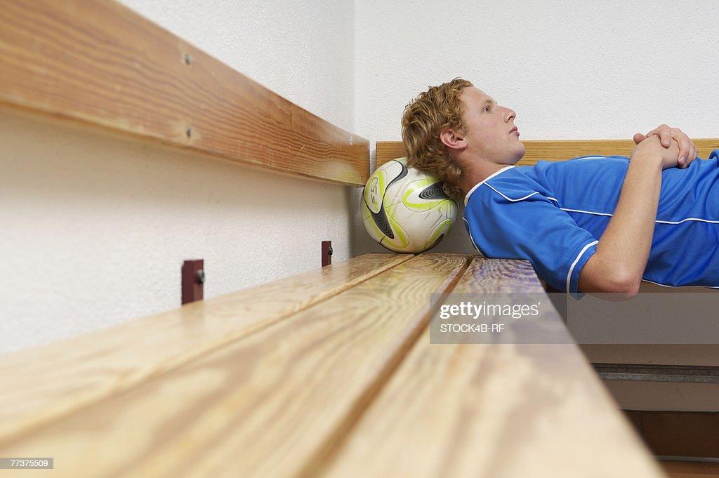 Reflective kicker lying in dressing room : Photo