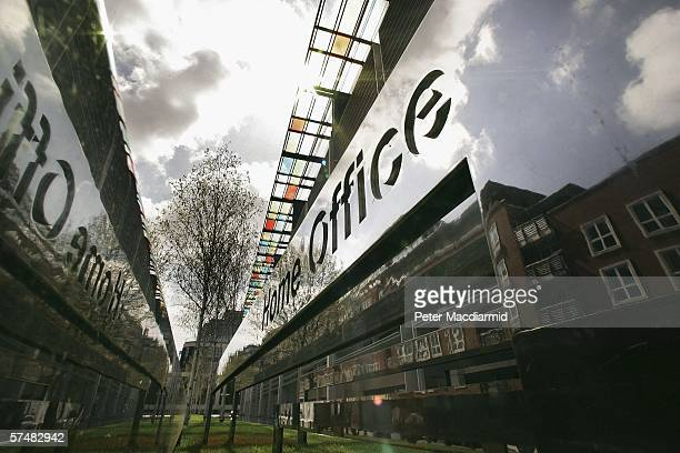 A Reflective Sign Displays The Name Of Home Office In Marsham Street On April 28