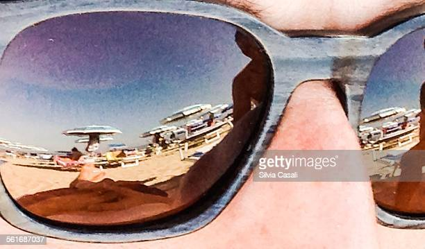 reflective sunglasses - silvia casali stock pictures, royalty-free photos & images