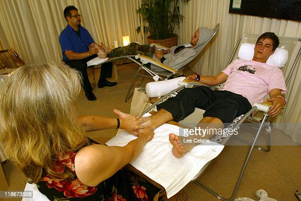 Reflexology treatment at Origins during The Silver Spoon Beauty Buffet Sponsored By Allure Day One at Private Residence in Hollywood California...