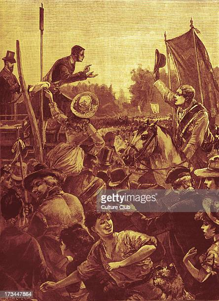 Reform Demonstration in Hyde Park London In support of the Representation of the People Act 1884 against Conservative opposition in the House of...