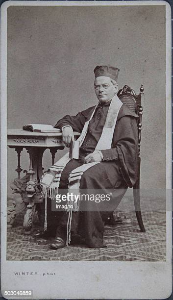 Reform Rabbi with Tallit About 1865 Carte de visite photograph by M L Winter Prague