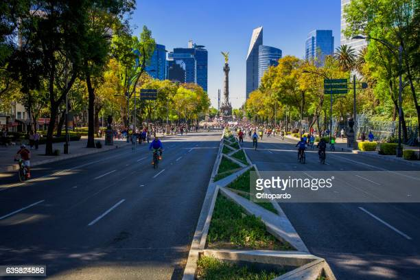 Reforma avenue Skyline in Mexico city