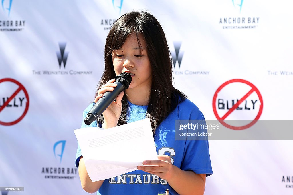 Reformed 'bully' Student Jacky Jung attends the 'Bully' Documentary DVD Balloon Release Party at Culver City High School on February 28, 2013 in Culver City, California.