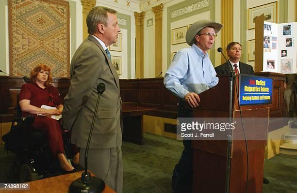 REFORMSen Lindsey Graham RSC far right and Sen Richard J Durbin DIll second from left and Sherry Keller of Conyers Ga far left look on as Vernon...