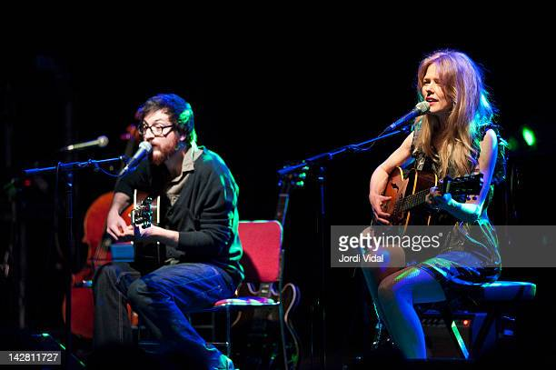 Refree and Christina Rosenvinge perform on stage during Festival de Guitarra de Barcelona at Luz De Gas on April 12 2012 in Barcelona Spain