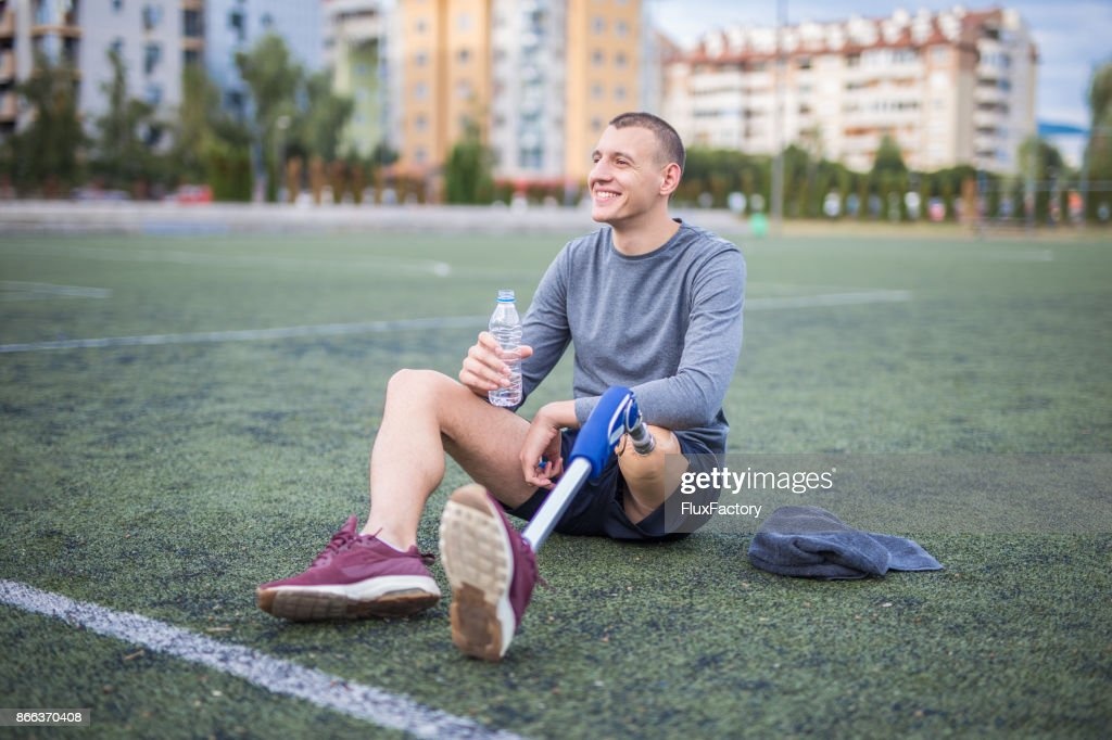 Refreshing after training : Stock Photo