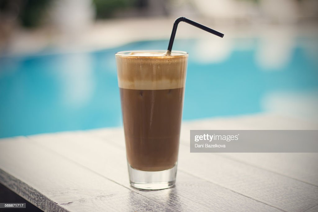 Refreshing cold frappe coffee : Stock Photo
