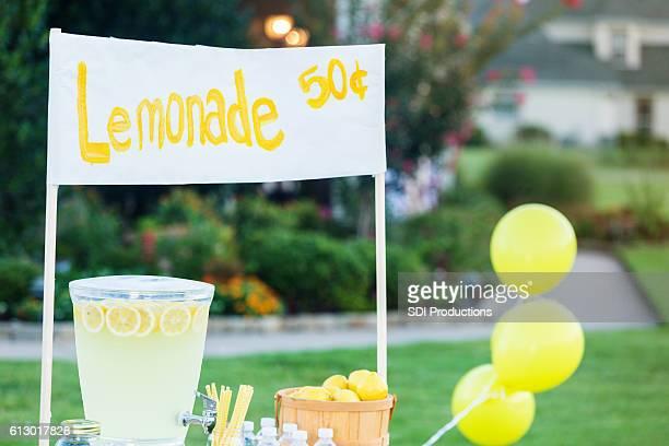 Refreshing lemonade stand