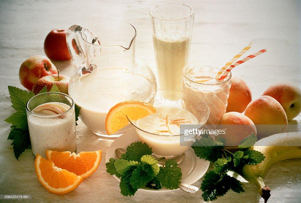 Refreshing Milkshakes : Stock Photo